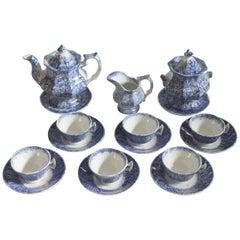Rare 19th Century Sponge / Spatter Ware Childs Tea Set
