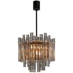 Gilt Metal Crystal Glass Chandelier by Kinkeldey