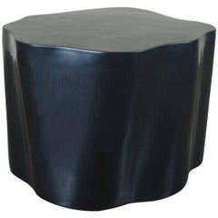 Root Stool, Black Lacquer by Robert Kuo, Limited Edition