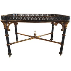 """Ralph Lauren """"Brook Street"""" Cocktail or Coffee Table With Fitted Removable Tray"""