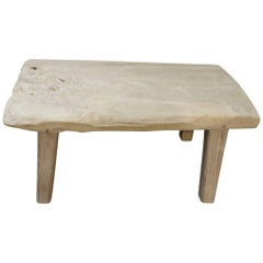 Andrianna Shamaris Bleached Teak Wood Side Table, Coffee Table or Bench