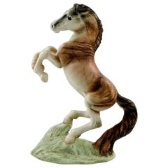 Large Goldschneider Figure in Porcelain, Rearing Horse
