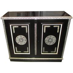 Hand-Decorated Cabinet in the Anglo-Indian Manner