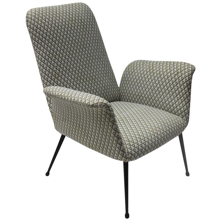 Italian Midcentury Armchair in the style of Alvin Lustig