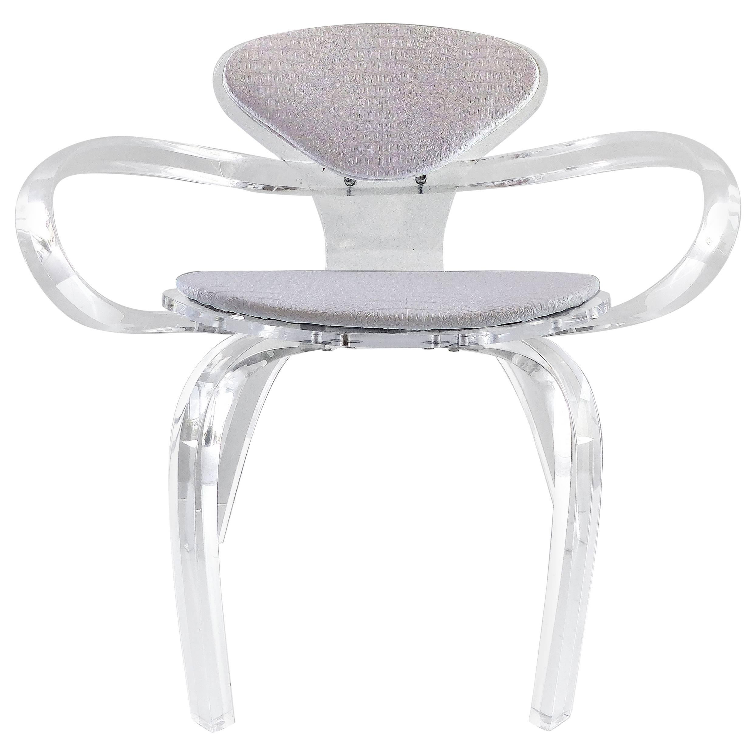 custommade lucite pretzel chair inspired by the norman cherner classic 1