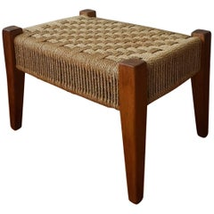 1960s Mexican Modern Seagrass Stool