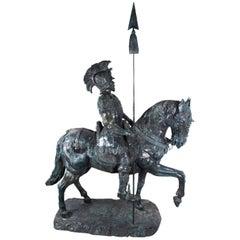 Lifesize Roman Armoured Cavalry Officer on Horseback