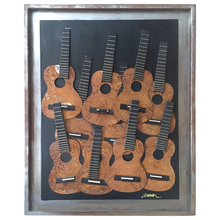 Fernandez Arman, 1928-2005, Cavaquinho Sculpture, Signed, circa 2003 For Sale