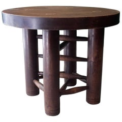 20th Century French Side Table 1940s Made of Walnut