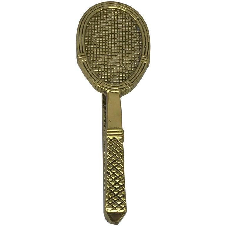1960s Brass Tennis Racket Door Knocker