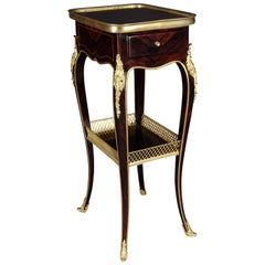 Filigree Side Table in Louis XVI Style after Henry Dasson, Paris