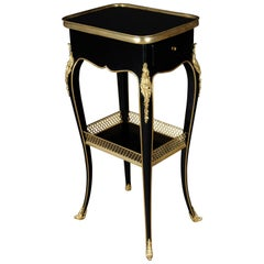 Filigree Side Table in Louis Seize Style after Henry Dasson, Paris
