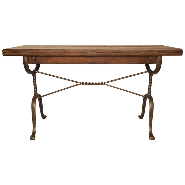 Rustic Style Extending Console Or Dining Table For Sale At