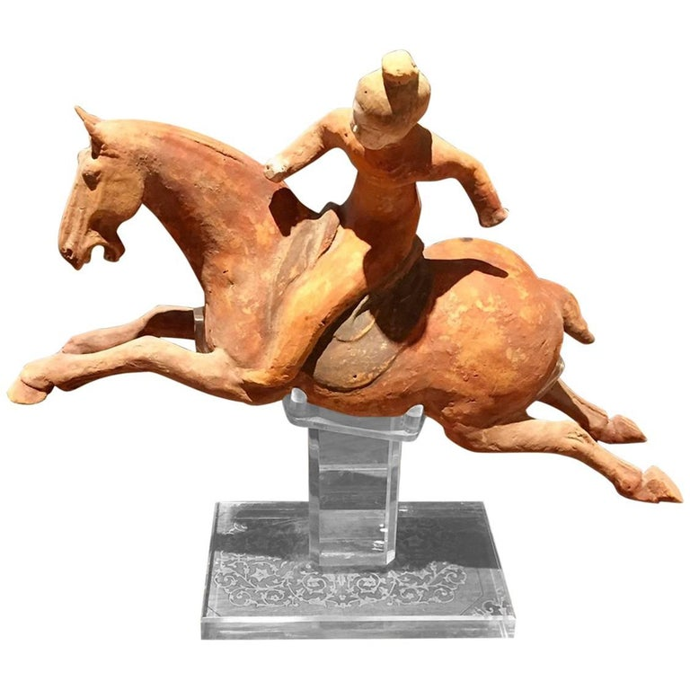 China Important Ancient Flying Polo Player, Tang Dynasty 618-907