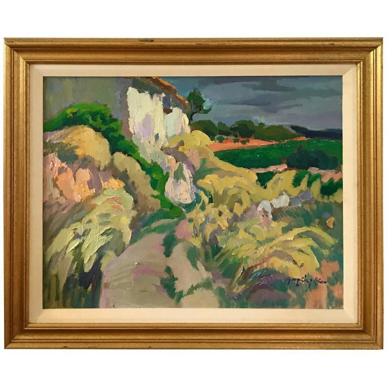 1970s Italian Landscape, Framed For Sale