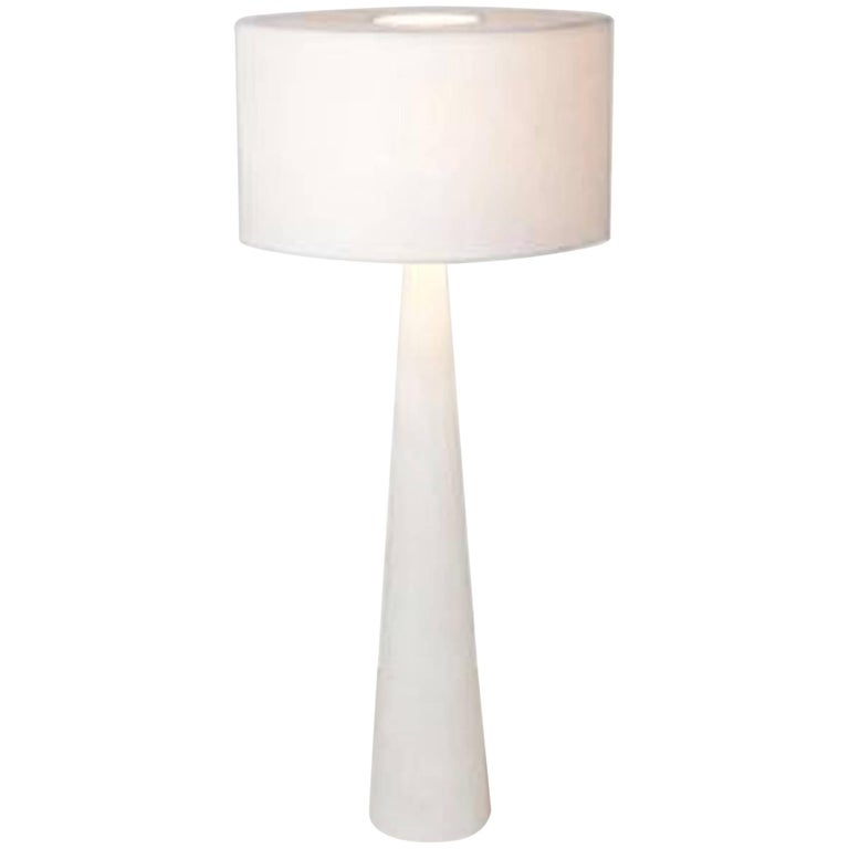 Cyclop Table Lamp in Alabaster by Julien Barrault For Sale