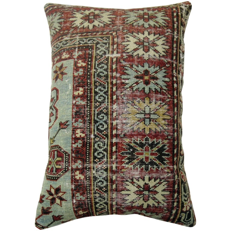 Shabby Chic Caucasian Rug Pillow For Sale