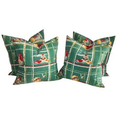 Tex, Mex Table Cloth Pillows / Collection of Four