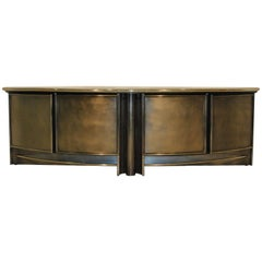 Spectacular Steel and Chrome Sideboard by Belgochrom, Belgium, 1980s