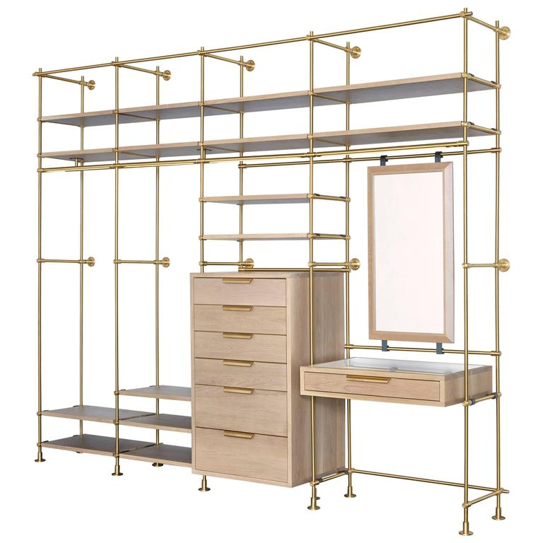 Amuneal's Collector's Wardrobe + Vanity 4 Bay Unit For Sale