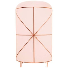 In Stock 88 Secrets Bar by Nika Zupanc, Contemporary Blush Rose Bar Cabinet