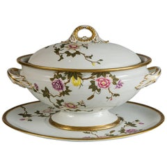 Royal Worcester Porcelain Soup Tureen Made in 1851