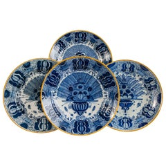 Delft Blue and White Chargers a Group of a Dozen Made in the Last Quarter 18th C