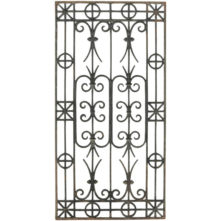 Late 19th Century French Cast Iron Grill or Grate, Coffee