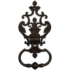 Large Cut Iron Chateau Door Knocker from France