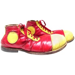 Vintage Red and Yellow Dot Clown Shoes