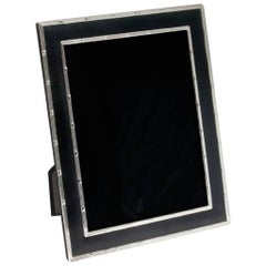 Faux Lizard Photo Frame Black