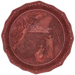 1980s Cinnabar 'Dance of the Peacock Maidens' Plate