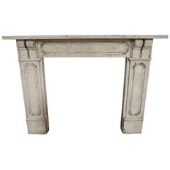 Antique William IV Bath Stone fireplace