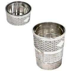 Silver Plated Collapsible Beaker Atkins Brothers
