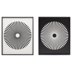 Pair of Wolfgang Ludwig Serigraph in Black and White