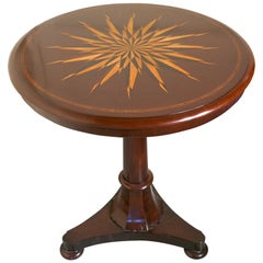 Superb 'William IV' Starburst Inlaid Tilt-Top Mahogany Table