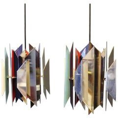 "Pair of ""Tivoli"" Pendants by Simon Henningsen and Lyfa, 1960s"