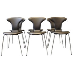 Set of Six Munkegaard Chairs by Arne Jacobsen and Howe, 1955-1957