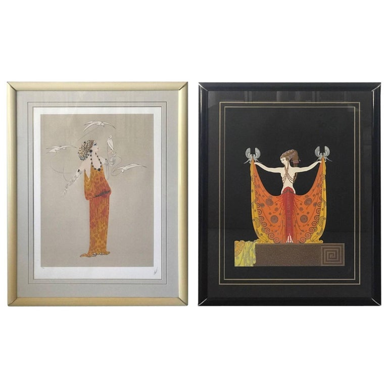 1970s Erté 'Love and Beauty Suite', 'Venus' and 'Aphrodite' Serigraphs, Pair
