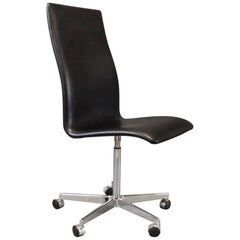 The Oxford Classic Office Chair, Model 9193c by Arne Jacobsen and Fritz Hansen