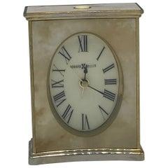 1970s Faux Marble Desk Clock