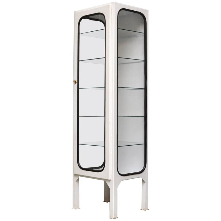 vintage medicine cabinet with five glass shelves 1975 for. Black Bedroom Furniture Sets. Home Design Ideas