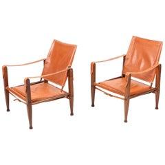 Pair of Pristine Safari Chairs by Kaare Klint