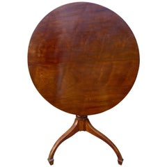 Georgian Yew Wood Tilt-Top Table