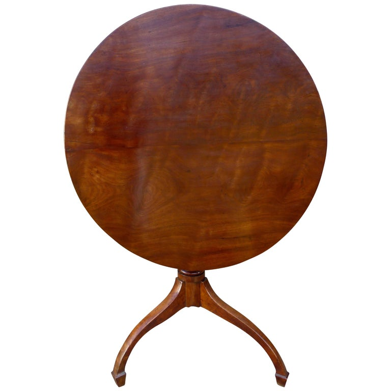 Georgian Yew Wood Tilt Top Table For Sale