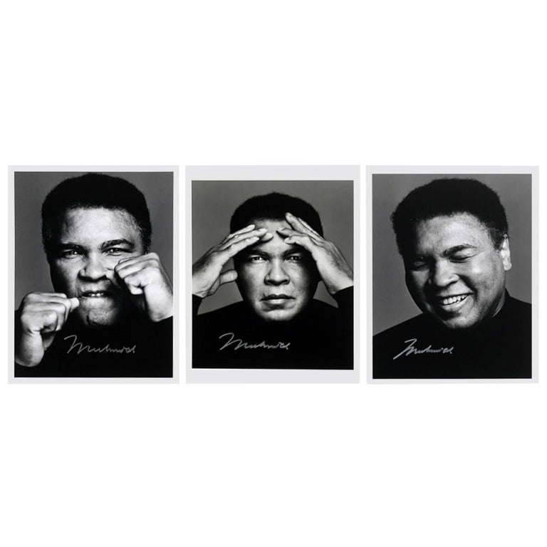 Iconic Photographs of Muhammad Ali, the Only Set Signed by Ali For Sale
