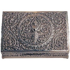 Sumptuous Sterling Silver Cigar Box