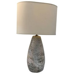 Crackle Finish Dimpled Midcentury Table Lamp