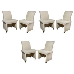 Set of Six Milo Baughman for Thayer Coggin Parsons Style Dining Chairs