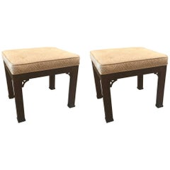 Pair of Kindel Chinese Chippendale Benches